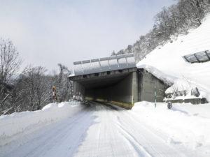 H-27増毛稲田線局改雪庇防止柵特工事冬